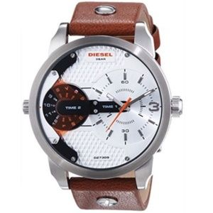 Diesel DZ7309 Mini Daddy Brown Leather Watch